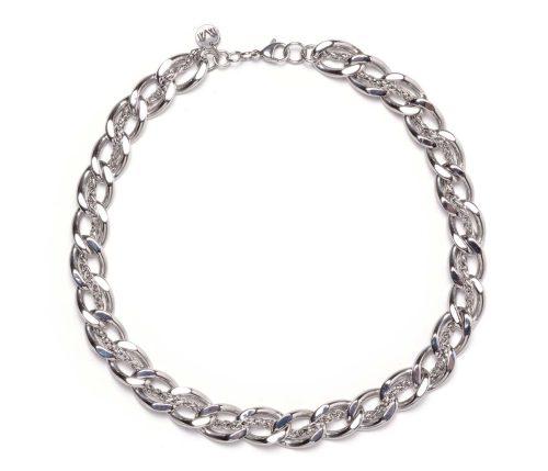 Maria Masella, collier, chaînes en acier inoxydable