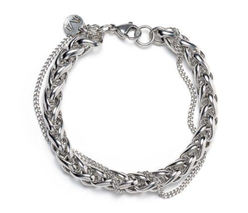 Maria Masella, bracelet, chaînes en acier inoxydable